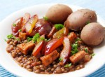 Lentils with Smoked Tofu and Plums