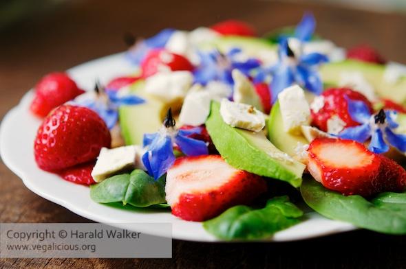 Strawberry Tofu Salad
