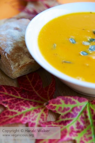 French Pumpkin & Sweet Potato Soup